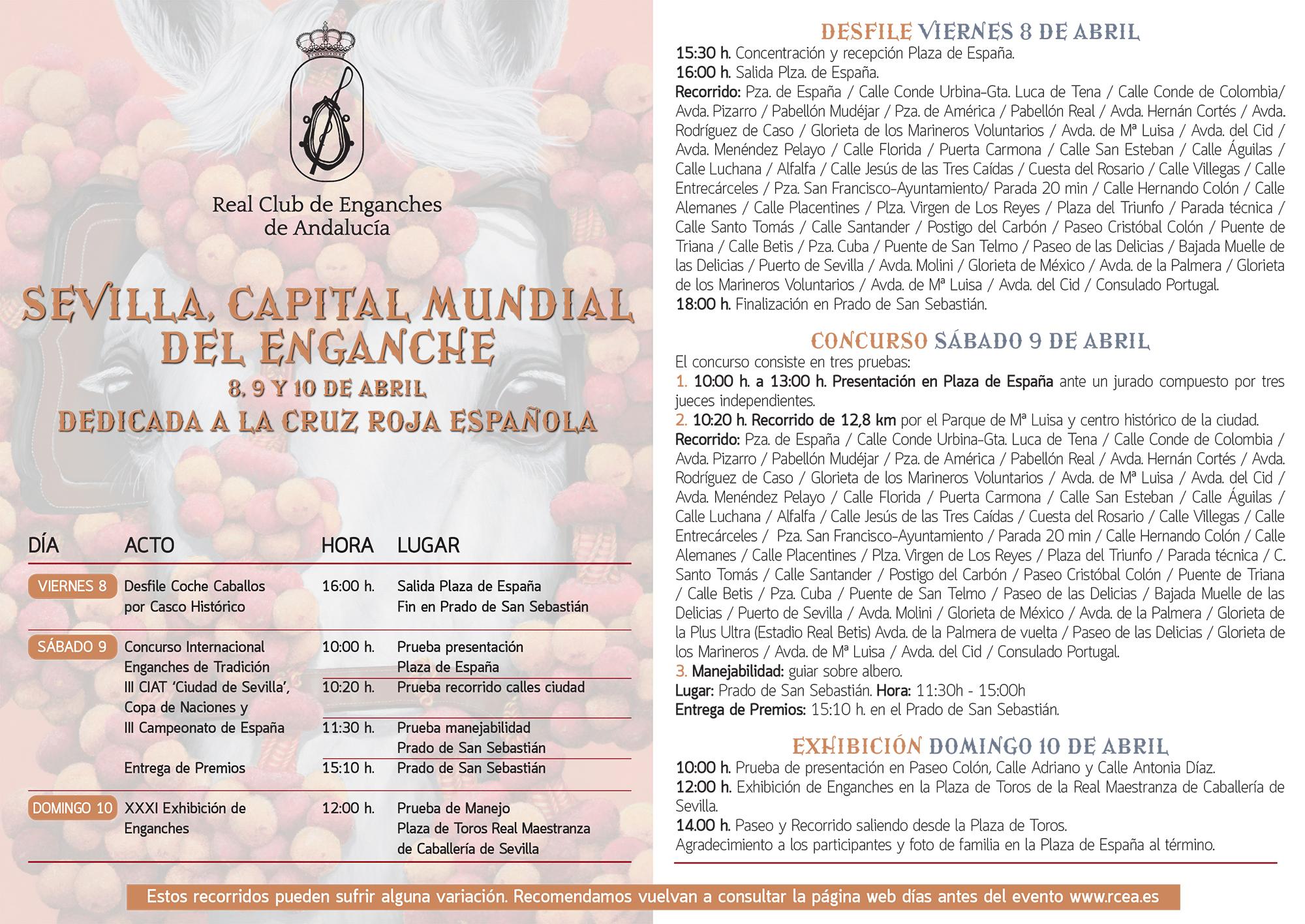 Programa Sevilla Capital Mundial del Enganche 2016