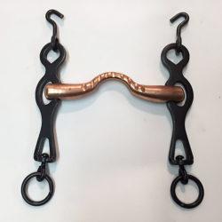 Bocado portugués con embocadura de cobre